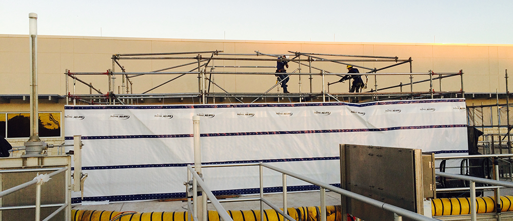 Scaffold for Environmental Containment